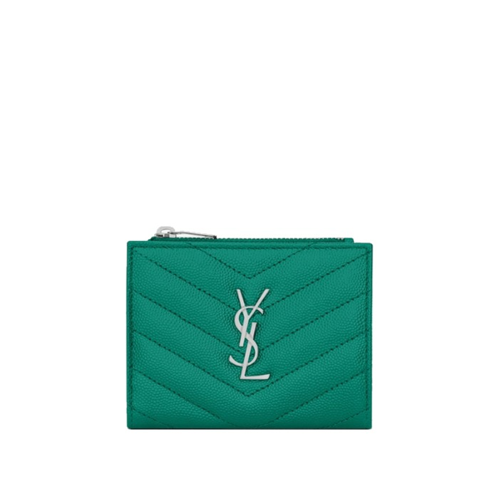 유럽직배송 생로랑 모노그램 지퍼 카드 지갑 YSL MONOGRAM ZIPPERED CARD CASE IN QUILTED GRAIN DE POUDRE EMBOSSED LEATHER 575879BOW024409