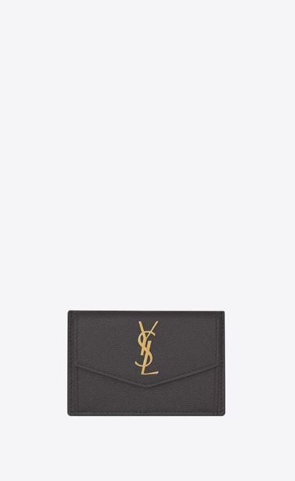 유럽직배송 입생로랑 SAINT LAURENT uptown card case in grain de poudre embossed leather 5823051GF0J1112