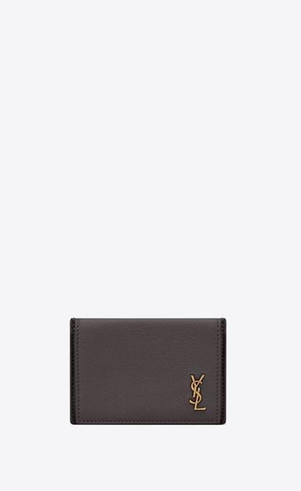 유럽직배송 입생로랑 SAINT LAURENT tiny monogram card case in grained leather 63526415B0W1112