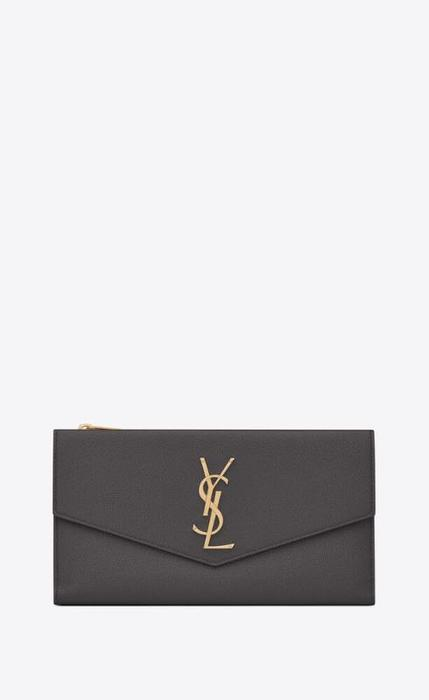 유럽직배송 입생로랑 SAINT LAURENT uptown large wallet in grain de poudre embossed leather 5821241GF0J1112