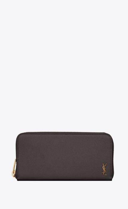 유럽직배송 입생로랑 SAINT LAURENT tiny monogram zip-around wallet in grained leather 63743215B0W1112