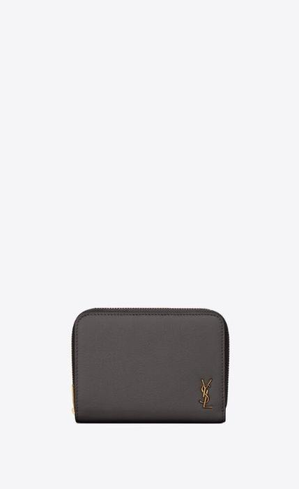 유럽직배송 입생로랑 SAINT LAURENT tiny monogram compact zip wallet in grained leather 63526315B0W1112
