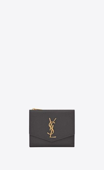 유럽직배송 입생로랑 SAINT LAURENT uptown compact wallet in grain de poudre embossed leather 5822961GF0J1112