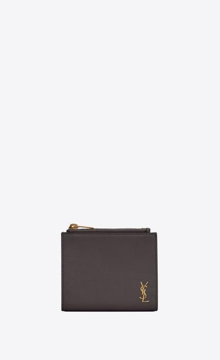 유럽직배송 입생로랑 SAINT LAURENT tiny monogram zip card case in grained leather 63526515B0W1112